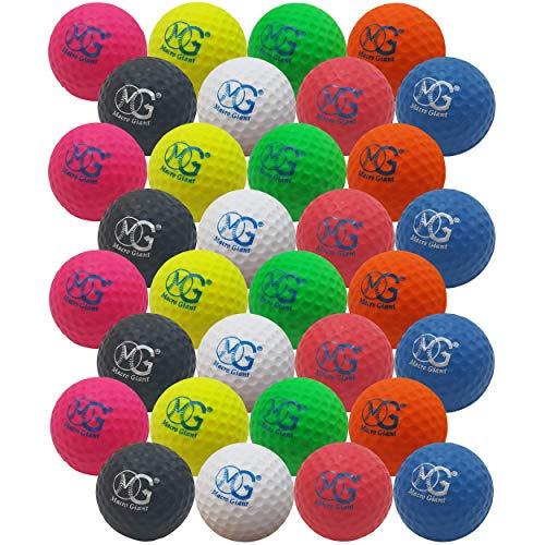 Macro Giant 1.7 Inch Foam Golf Ball, Set of 32, 8 Colors, Indoor Outdoor, Beginner, Training Practice