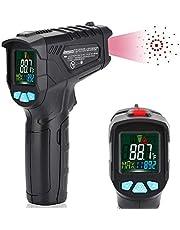 Infraröd termometer IR Pyrometer -50 till +550 ° C (-58 till +1022 ° F) med larmfunktion IR-laser Digital termometer Beröringsfri temperaturmätare Temperaturmätare med LCD-färg 12-punkts lasercirkel
