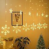 Luci della stringa vacanza,Catena della lampada della finestra,Luminose per finestre,Catena Luminosa,Illuminazione natalizia,Illuminazione natalizia,Finestra illuminato (C)