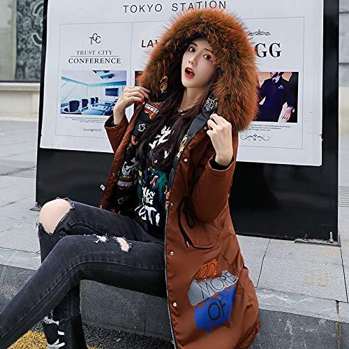 Ropa para mujer abrigo de invierno engrosamiento de la capa Parker abrigo...
