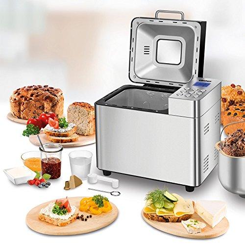 UNOLD Brotbackautomat Backmeister Edel, 550 W, 750-1000 g Brotgewicht, Keramik-Beschichtung, 68456 - 4