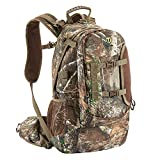 TideWe Hunting Backpack, Waterproof Camo Hunting Pack with Rain Cover, Durable Large Capacity Hunting Day Pack for Rifle Bow Gun (Realtree Edge)