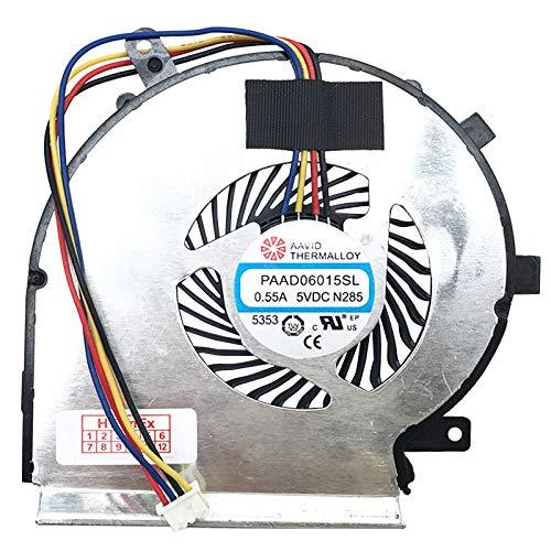 (CPU – Versión de 4 pines) Ventilador de ventilador para MSI, GE62 6QC, GE62 6QD, GE72 7RD (MS-1799), GE62, GE72 2QC (MS-1792), GE72 2QD (MS-1792)