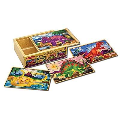 Melissa & Doug Wooden Jigsaw Puzzles in a Box - Dinosaur