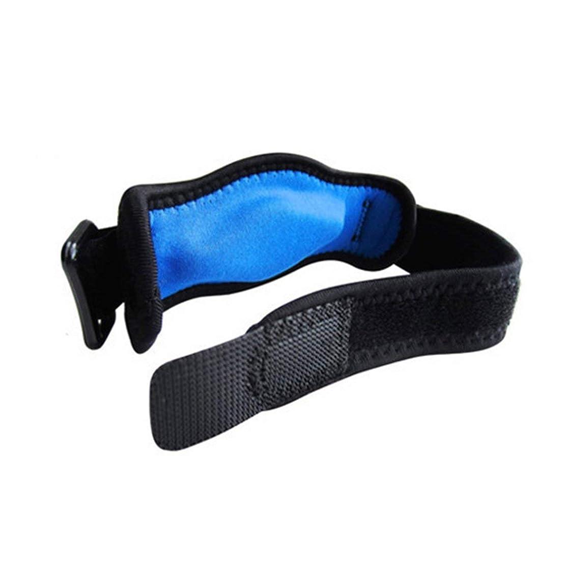混乱机内部調節可能なテニス肘サポートストラップブレースゴルフ前腕痛み緩和 - 黒
