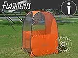 Dancover Zuschauer-Faltzelt Faltpavillon Wasserdicht, FlashTents®, 1 Person, Orange/Dunkelgrau