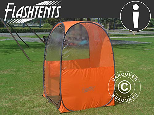 Dancover All Weather Pod/Football Mom pop-up tent, FlashTents, 1 person, Orange/Dark grey