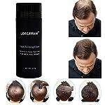 Hair Building Fibers,Hair Fibers,Hair Loss Concealer,Densificateur de cheveux,Cheveux fins et clairsemés,Zone de calvitie-effet visible immédiat–grâce aux microfibres de kératine naturelle–Noir 27.5g #1