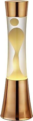 Reality R50551129 Lava Lampada da Tavolo, 1x GY6.35 35 W Alogena 12, Rame Opaco/Nero/Trasparente Chiaro, 41 cm, metallo;metallo/plastica/vetro