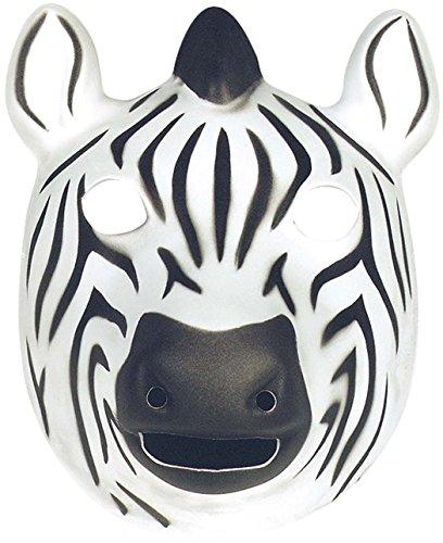 Wild Republic 63134 - Maske für Kinder und Erwachsene,Zebra, 21 x 19 cm