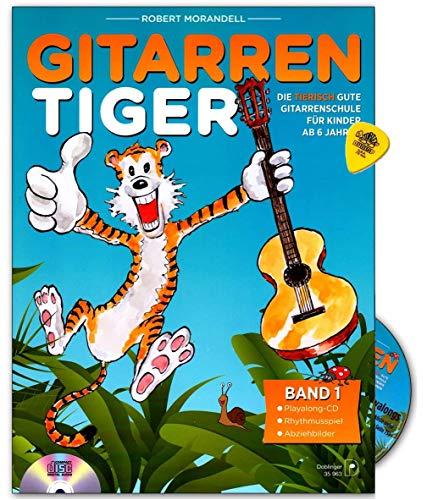 La Guitarra Tiger banda 1–de espina Buena Guitarra Escuela de Robert Moran Dell–para niños a partir de 6años–con CD y Dunlop Púa