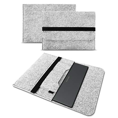 UC-Express Schutz Hülle kompatibel für Medion Erazer Guardian X10 Tasche Filz Notebook Cover Laptop Hülle, Farbe:Hell Grau