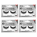 Ardell False Eyelashes 3D Faux Mink 854, 4 pairs