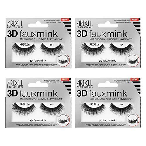 Ardell False Eyelashes 3D Faux Mink 854, 4 pairs