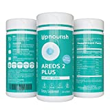 AREDS 2 Eye Vitamins for Macular Degeneration & Dry Eyes with Lutein 40mg, Zeaxanthin, Saffron, Astaxanthin 12mg & DHA 200mg - Eye Supplements for Eye Strain, Eye Pressure & Night Vision, 120 softgels