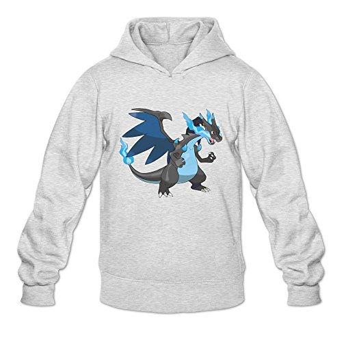 Men Charizard Mega X Custom Retro Size M Color Ash Hoddie By Mjensen