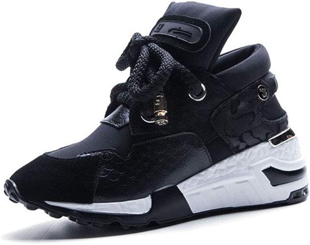 YAN Les Femmes de Mode paniers en Microfibre Mode Décontracté Haut-Top Chaussures Chaussures de Sport Fitness & Cross Chaussures d'entraîneHommest,B,37