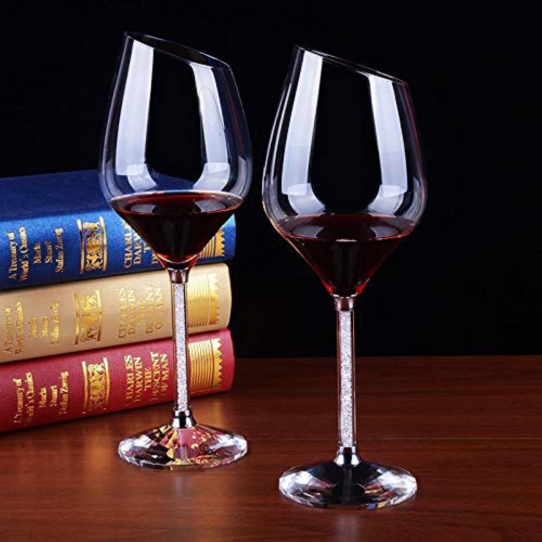 Venta al por mayor barato y de alta calidad. ZHUANGSHI ZHUANGSHI ZHUANGSHI Copas de Vino de Cristal Rojo Biselado Copa de Vino de Cristal Copas de Vino Copas de Vino Decoradas Cristalería Decoraciones de Boda  sin mínimo