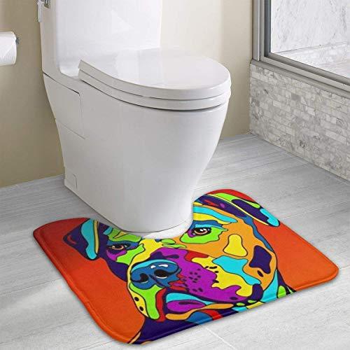 Hoklcvd Multi-Color American Pit Bull Terrier Rutschfeste Badematte für WC, saugfähiges Wasser, perfekt für Badezimmer. Kaufen Sie online Badematten zu den besten Preisen