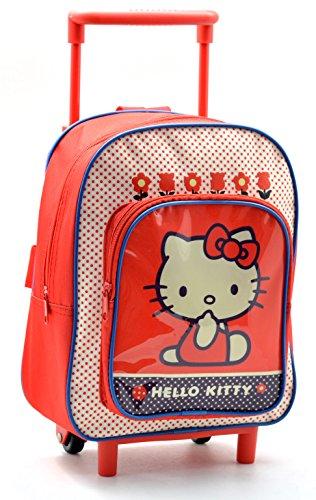 Hello Kitty AR641 - Mochila Carro Capacidad 28 x 12 x 22 cm Mochila Infantil 34 cm, Multicolor