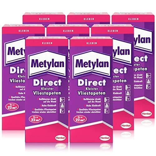 Henkel Metylan Direct Tapetenkleister für Vlies-Tapeten 200g (8er Pack)