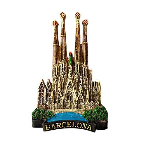 Kühlschrankmagnet, 3D-Optik, Barcelona-Andenken, für Zuhause und Küche, Spanien-Motiv