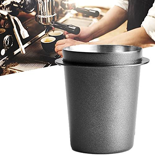 floatofly Espresso-Dosierbecher Kaffeestaubpulverbecher, Edelstahl-Kaffeepulverpflücker, Kaffeedosierbecher-Pulverzuführungsteil für Espressomaschine mit 58 mm Griff