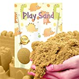Kiddosland Dino Play Moving Sand 3 LBS Refill Pack- Stretchable and Moldable Sensory Play Sand for Indoor Outdoor Activity, Non-Toxic Sand kit Sensory Toys for Boys & Girls (Natural Color)