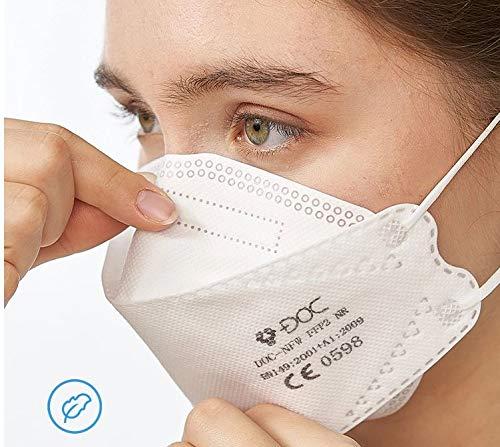DOC-NFW - FFP2-Masken EN 149:2001 + A1:2009. CE-Zertifziert - 25er Box - Einzeln verpackt
