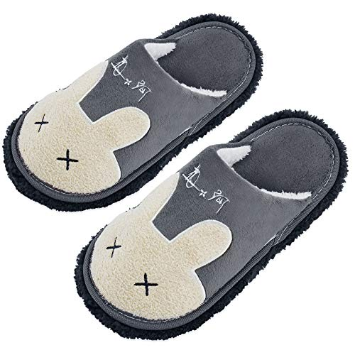Xunlong Zapatillas unisex para limpieza de pisos, para hombres y mujeres, para limpiar el suelo, herramienta de limpieza de suelos, color Gris, talla 38.5/41 EU
