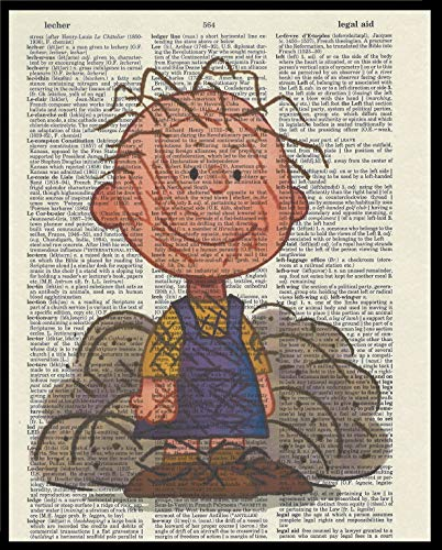 Pigpen Peanut's Children's Cartoon Dictionary Book Page Artwork Print Picture Poster Home Office Bedroom Kitchen Wall Decor - unframed