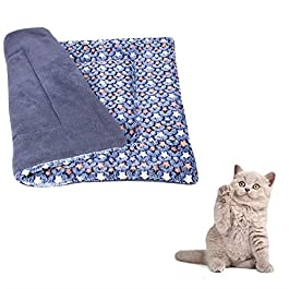PLUS PO Dog Blanket Vet Bed Puppy Blankets Cat Blanket Cat Beds Warm Dog Blanket Pet Blanket Fluffy Blanket Dog Bed Accessories Puppy Bed Dog Bed Small blue,s