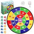 Liberry Dartboard Game, 26 Inches Large Dartboard and 12 Sticky Balls, Safe Darts Game for Kids Adults, Indoor and Outdoor Exercise Toy for Boys and Girls, Elegant Colorful Box Package