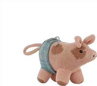 OYOY Mjuk leksak, gosiga djur gris – Hugo Mini Pig – gris rosa – bomull – L 19 x H 15 x D12 cm