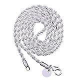 Collane, Unisex Moda 45,7-76,2 cm Collana Twisted Chain Ciondolo Gioielli Regalo per Incontri - 45,7 cm