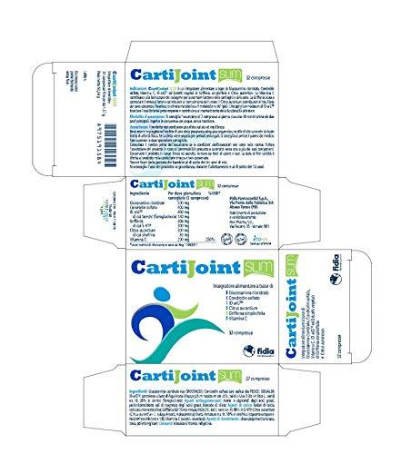 CartiJoint Slim   Integratore alimentare per la funzionalità articolare e l'equilibrio del peso corporeo Glutine e lattosio free   Confezione da 32 compresse