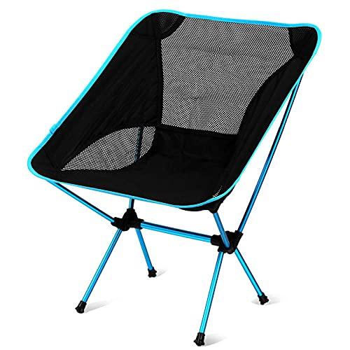 Silla De Camping Silla De Luna Silla De Pesca De Aleación De Aluminio Ultraligera Barbacoa Portátil Silla Plegable con Respaldo De Arena Al Aire Libre