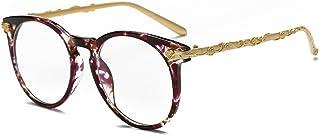 Gafas de sol unisex Charm Retro Flower Frame Gafas de sol para mujer Round Gafas de sol de señora Colorful Rimmed Protección UV Rimmed Gafas de sol Classic para conducir Viajar para actividades al a