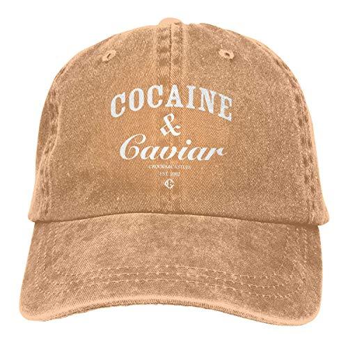 Jhonangel Gorra de béisbol con Caviar de cocaína Sombrero de papá Vintage Polo Ajustable Trucker Camisa de Estilo Unisex