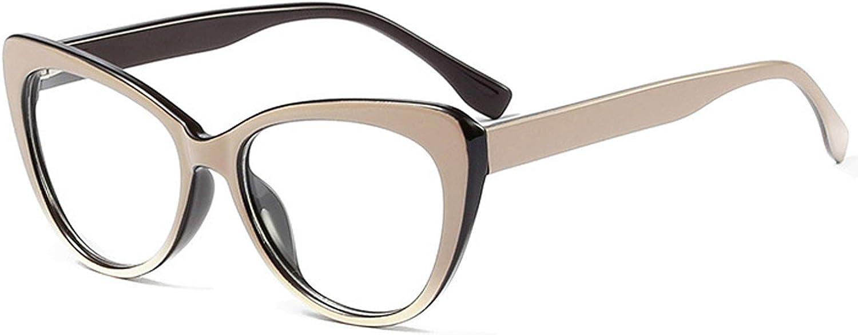 Gafas De Montura Grande BOZEVON Gafas De Mujer De Moda Espejo Plano Montura De Gafas Sin Receta Unisex