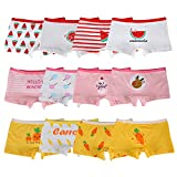 Kidear Série Enfants Culotte Culotte Culotte Enfant 12 Pièces sous-vêtements en Coton Doux pour Tout-Petit, âgés de 2 à 10 Ans (2-4 Ans, Multicolore) (8-10 Ans, Style1)