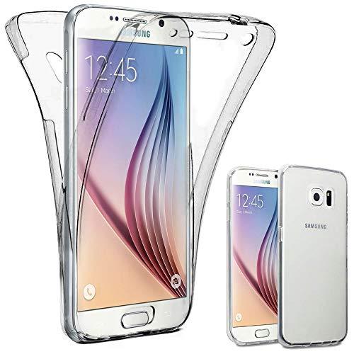ebestStar - Funda Compatible con Samsung S6 Galaxy SM-G920F, G920 Carcasa Gel Silicona Integral Ultra Claro, Protección Completa Case Cover, Transparente [Aparato: 143.4 x 70.5 x 6.8mm, 5.1'']