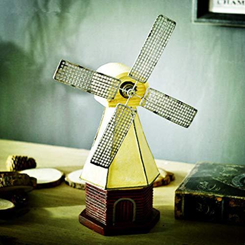 WFSDKN Decoratie Retro Persoonlijkheid Venster Nederlandse Windmolen Beeldje Koffie Wijn Meubelkabinet Creatieve Ambacht Ornament Gift Home Decor