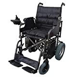 Mobiclinic, modelo Cenit, Silla de ruedas eléctrica, plegable, con motor, para discapacitados, minusválidos, ancianos, ortopedica, para mayores, autonomía 20 km, 24V, color Negro