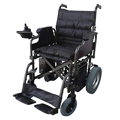 Mobiclinic, modelo Cenit, Silla de ruedas eléctrica, plegable, con motor, para discapacitados, minusválidos, ancianos, ortopedica, para mayores, autonomía 20 km, 24V, color Negro ⭐