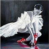 Diy Pintura Diamante Hermosa Bailarina De Ballet Taladro Completo Kit De Punto De Cruz Diamante Kits De Pintura Para Adultos Rhinestone Bordado Arte 40 * 50Cm