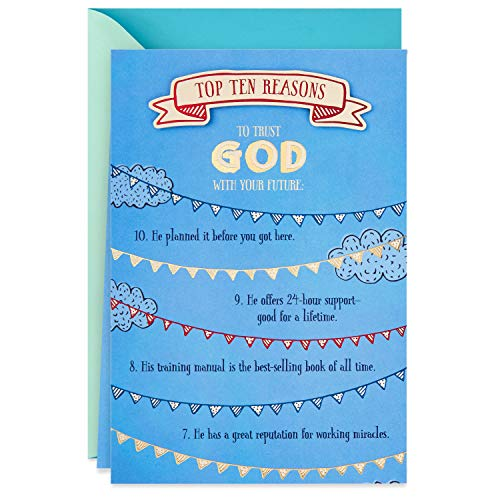 DaySpring Religious Graduation Card (Top Ten Reasons to Trust God With Your Future)