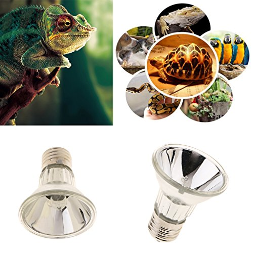 MagiDeal Ampoule Terrarium Reptile Halogène E27 Lampe Spot UVA UVB pour Reptile Animaux - 50W