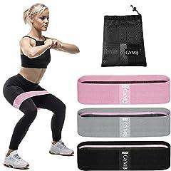 3 Fitnessbänder für Beine und