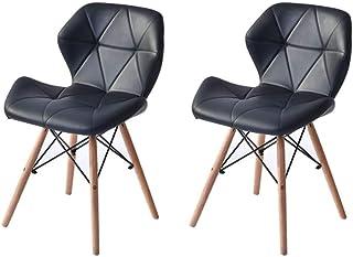ダイニングチェア レーダーチェア イス チェア 北欧 おしゃれ 人気 リプロダクトイームズ椅子 (ブラック 2脚)